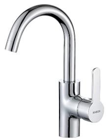 KAIBOR Grifo monomando para lavabo, caño giratorio 360°, grifo para cuarto de baño, grifo monomando