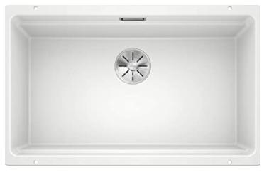 fregadero de Granito para Armarios Bajos de 80 cm de Ancho – Bajo Encimera – De SILGRANIT – Blanco