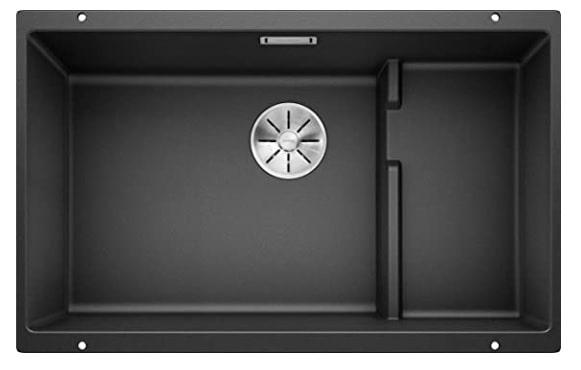 Blanco - SUBLINE 700-U Level Fregadero Cocina, gris antracita, 700 mm Beckenbreite